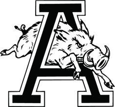 Razorback Alternate Logo   Arkansas Razorbacks Logo