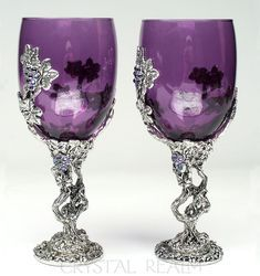 Amethyst Purple Arthur and Guinevere Toasting Glasses – Puzzle Rings, Engagement Puzzle Rings, Posy Rings, Celtic Wedding Bands Purple Home, Pink Purple, Purple Cups, Teal, Purple Wine Glasses, Red Wine, Communion Cups, Celtic Wedding Bands, Purple Stuff