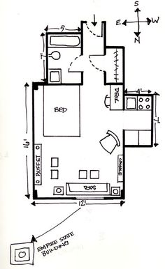 Floor plan of beautiful brown and white suite