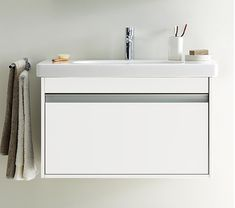 Get up to off on this contemporary Duravit Ketho 1 Drawer Unit With Starck 3 Basin. MPN of the product are Wall Mounted Bathroom Sinks, Vanity Set With Mirror, Single Sink Bathroom Vanity, Wall Mounted Vanity, Small Bathroom, Bathrooms, Bathroom Vanities, Bathroom Ideas, Single Vanities