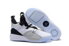 2ee54fb77f9e22 Air Jordan 33 White Grey Black Mens Basketball Shoes-4 Basketball Drills