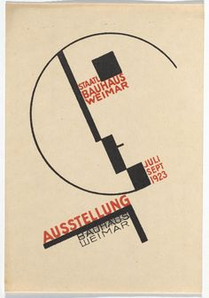 Dorte Helm. Bauhaus Ausstellung Weimar Juli–Sept, 1923, Karte 14. 1923. Lithograph, 5 7/8 × 3 15/16″ (15 × 10 cm). Committee on Architecture and Design Funds. Photo: John Wronn