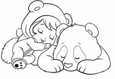 Baby Strawberry shortcake napping with a Panda cub Colouring Pages, Printable Coloring Pages, Coloring Sheets, Coloring Books, Teddy Bear Drawing, Strawberry Shortcake Coloring Pages, Baby Embroidery, Pictures To Draw, Drawing For Kids