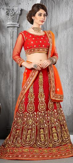 RED gets a makeover for this wedding season - Order this for flat 10% off.  #Lehenga #Bride #IndianWedding