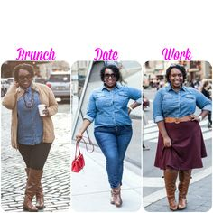 I love a good denim shirt but never thought to put together an outfit like this lovely Plus Size Princess. I love her blog!
