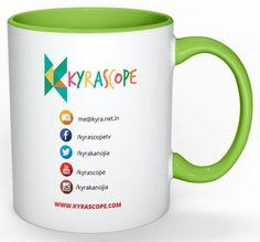 Kyrascope Branded Milk Mug ( Green Back)