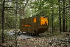 """A Tiny Luxury: What are """"Tiny Houses"""" Really Saying About Architecture? A Tiny Luxury: What are """"Tiny Houses"""" Really Saying About Architecture? Tiny House Hotel, Tiny House Rentals, Cabin Rentals, Cabins In The Woods, House In The Woods, Tiny House France, Mini Cabins, Weekend In Nyc, Getaway Cabins"""