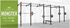 Rogue Rigs Crossfit Box, Rogue Fitness, Garage Gym, Rigs, Weight Lifting, Wall Mount, Gym Equipment, Sports, Building