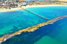 About half an hour's drive from Adelaide, you'll find Port Noarlunga - this spot is popular for snorkelling, scuba diving and fishing, but those just seeking a beautiful outlook will be equally happy.