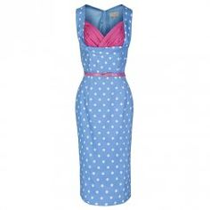 'Vanessa' Perfect Pastel Wiggle Dress In Blue