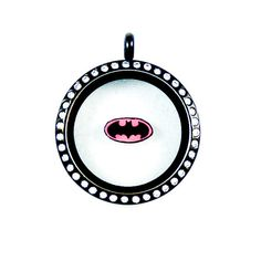 cd5fcae23b4 Pink Batman Logo Floating Charm by PandemoniumTreasures on Etsy