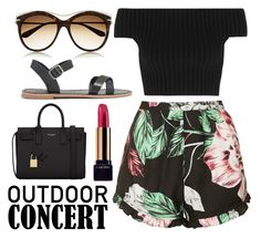 """Outdoor concert"" by roxiegomez ❤ liked on Polyvore featuring Topshop, Michael Kors, Madewell, Lancôme, Alexander McQueen and Yves Saint Laurent"