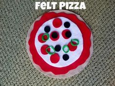 The Preschool Procrastinator: Felt Pizza