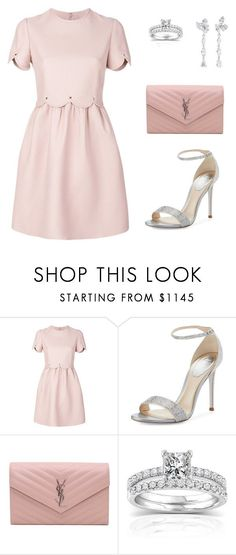 """Untitled #327"" by jovanaaxx on Polyvore featuring Valentino, René Caovilla, Yves Saint Laurent, Annello and Anyallerie"