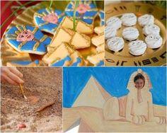 """Un cenador ha inspirado la mesa de dulces """"bajo palio""""... Hay niños muy aventureros y para ellos está pensada esta temática... Esta fiesta al aire libre requiere de una superficie considerable de espacio en un jardín, pero no hay duda de que la idea es genial: una fiesta temática Egipto con excavación arqueológica y todo... En este caso la fiesta temática, vista en Sweet Designs, el blog de Amy Atlas,se organizó con varios escenarios: una mesa de dulces muy estructurada, con &qu..."""