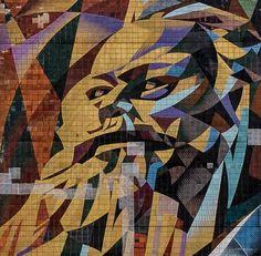 Karl Marx mural in Halle-Neustadt (former East-Germany). Karl Marx Books, Communism, Socialism, Political Art, Constructivism, East Germany, Ex Libris, Soviet Union, Urban Art
