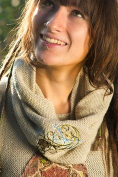 Organic Hemp-Linen Knitted Infinity Elf Scarf. by EcoElf on Etsy