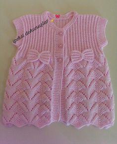 Kids Clothes Organization makeshift family closet for those Baby Knitting Patterns, Knitting Designs, Baby Patterns, Free Knitting, Baby Vest, Baby Cardigan, Crochet For Kids, Crochet Baby, Knit Vest Pattern