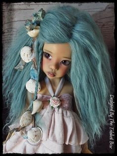 She Sells Sea Shells  Mohair Wig For Kaye Wiggs MSD BJD - Hope , Layla Or Other