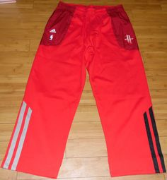 Houston Rockets Adidas NBA Players Shooters Warm Up Sweat Pants Red Size XXL #adidas #HoustonRockets