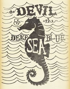 The Devil & The Deep Blue Sea Art Print