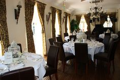 Angmering Manor Dining Room by ConsumedbyCake, via Flickr Country House Hotels, Wedding Flowers, Table Settings, Dining Room, Weddings, Table Top Decorations, Wedding, Place Settings, Marriage