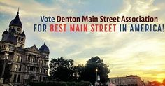 Keep the votes coming! #VoteDenton for Best Main Street in America! Help us win $25k to give back to #Denton! Simply click here and vote Denton MSA: ow.ly/TiEK30acnB0  Voting is available for everyone once a day every 24 hours! Reposted from @dentonmsa  #denton #dentontx #dentonslacker #dentoning #Dentontexas #dentonite
