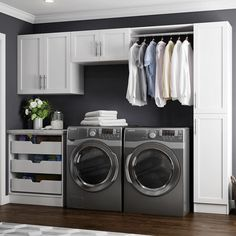 Modifi Horizon White Laundry Cabinets is ideal for casual users and high volume professionals that demand quality at a value price. Modern Laundry Rooms, Laundry Room Layouts, Laundry Room Remodel, Laundry Room Design, Basement Laundry, Laundry Rack, Laundry Room Makeovers, Hidden Laundry, Laundry Shelves
