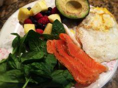 Grav Lox, Eggs, Avocado, Spinach Salad, Berries And Pineapple: 5/2/14