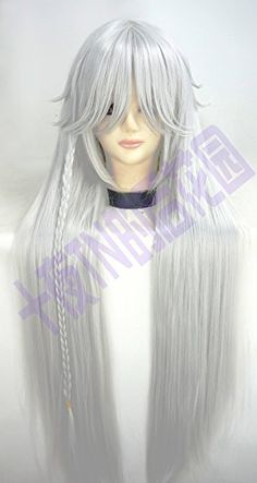 Mighty Gadget - Black Butler Undertaker Long straight 100cm White cosplay wig (Random Color): Amazon.ca: Beauty