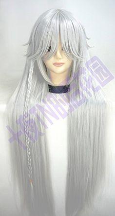 Mighty Gadget - Black Butler Undertaker Long straight 100cm White cosplay wig (Random Color): Amazon.ca: Beauty