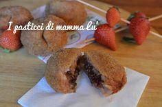 Supplì dolci con risotto di fragole e cuore di nutella