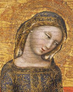 "jaded-mandarin: "" Vitale da Bologna. Detail from The Madonna of Humility, 1353. """
