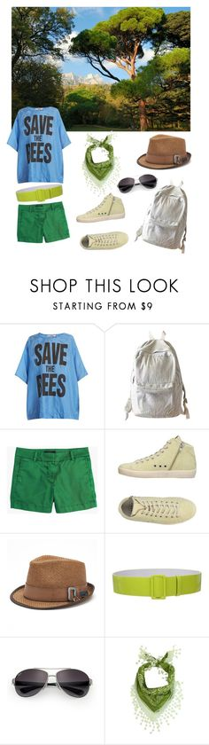 """""""summer"""" by julia-gubert on Polyvore featuring Katharine Hamnett, WithChic, J.Crew, LEATHER CROWN, Peter Grimm and Ray-Ban"""