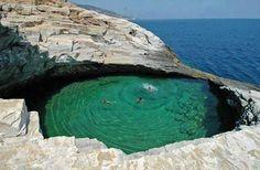 Giola natural lagoon, Thassos island, Greece
