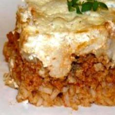 rakott_karfiol_recept_keppel Lasagna, Meat, Vegetables, Ethnic Recipes, Foods, Essen, Food Food, Food Items, Vegetable Recipes