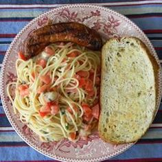Summer Pasta with Basil, Tomatoes and Cheese....very good!