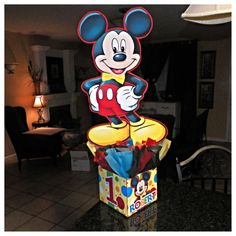 Mickey Mouse Birthday Party Centerpiece Clubhouse with Formal Bow Tie