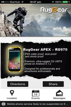 """Want to Build a Mobile Apps like """"RugGear Singapore""""? Contact Banana Mobile Apps Today! We can Help You!"""