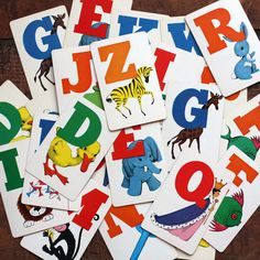Vintage Alphabet Flash Cards  Full Alphabet  Set por bostonbaglady, $30.00