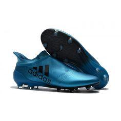 promo code f4df0 16b44 botines de futbol Adidas X 17 Purechaos FG Azules Negras 2017