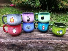 Hand Painted Mugs! I would like Ohm, Ponyo, Calcipher and or Gigi, love love