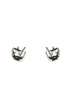 Celestial studs feature a moon and star crafted out of sterling silver and measure .8 cm.   Moon & Star Posts by Light Years Jewelry. Accessories - Jewelry - Earrings - Studs Chapel Hill, North Carolina