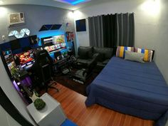 Bedroom Setup, Room Design Bedroom, Bedroom Layouts, Small Room Bedroom, Room Ideas Bedroom, Home Decor Bedroom, Small Room Design, Game Room Design, Room Ideias