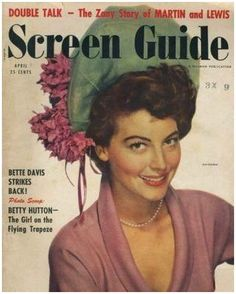 Ava Gardner on the cover of Screen Guide magazine, April 1951, USA.