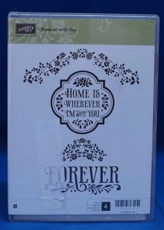 Stampin' Up! Forever with You Home is Wherever I'm with You Set of 4 Stamps NIB #StampinUp