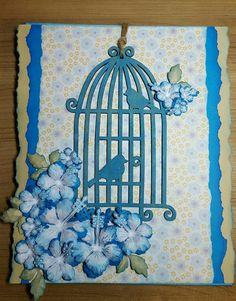 BellesCreations.gr: Birds in blue
