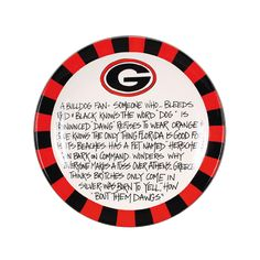 definition of a bulldog fan plate....I have almost a complete set of the Magnolia Lane T. Cabell's Too tailgating dishes and I love them!  $39