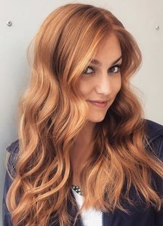 20 Trending Summer Hair Colours For 2019 Red Hair With Blonde Highlights, Red Blonde Hair, Blonde Hair With Copper Lowlights, Copper Blonde Hair Color, Blonde Honey, Peekaboo Highlights, Teal Hair, Violet Hair, Brown Balayage