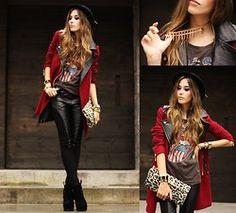 She Inside Coat, Romwe Pants, Merrin  Necklace